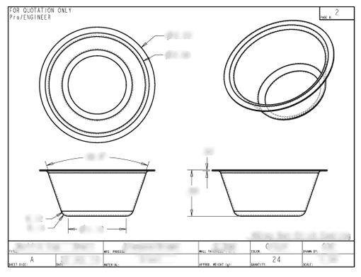 Muffin Pan Drawing Engineering Drawing 3