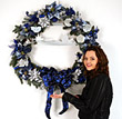 Davison Employee Makes Wreath for Holiday Auction