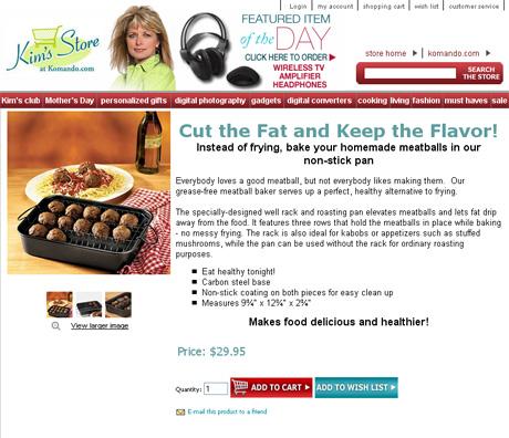 "Davison-designed Meatball Baker featured in store of ""national digital guru!"""
