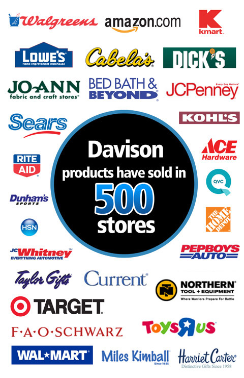 Davison products and packaging solutions now in more than 500 stores!