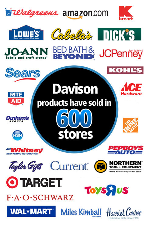 Davison products and packaging solutions have now sold in more than 600 stores!
