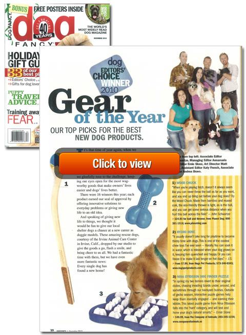 Hydro Bone and Dog Wash are 2010 Dog Fancy Editors' Choice Award Winners!