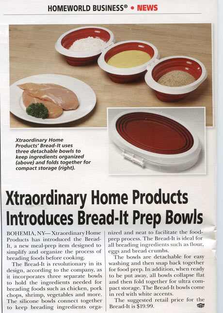 Bread-It in Homeworld Magazine and Headed for QVC!