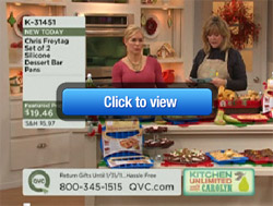 Silicone Dessert Bar Pan has great debut on QVC!