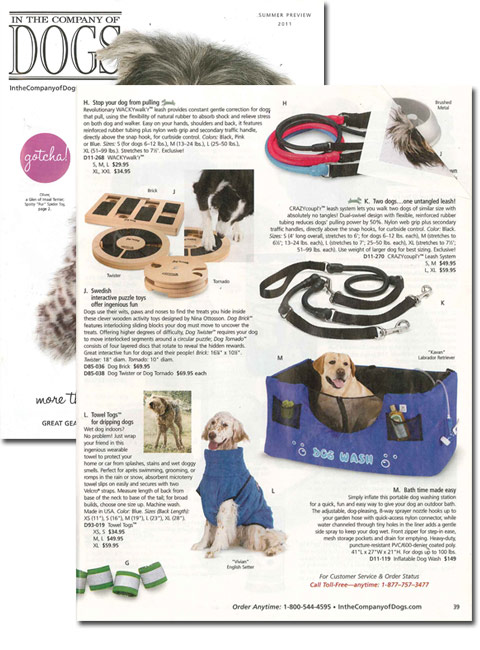 Dog Wash is a Regular Feature in Upscale Catalog!