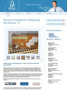 Davison Trade Show News Now Just One Click Away!