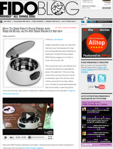 Auto Dish Pet Invention Gets Rave Reviews