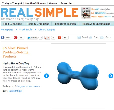 "Magazine Ranks Hydro Bone as Anything But ""Real Simple"""