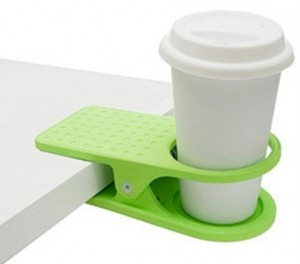 clipping your coffee cup to your desk