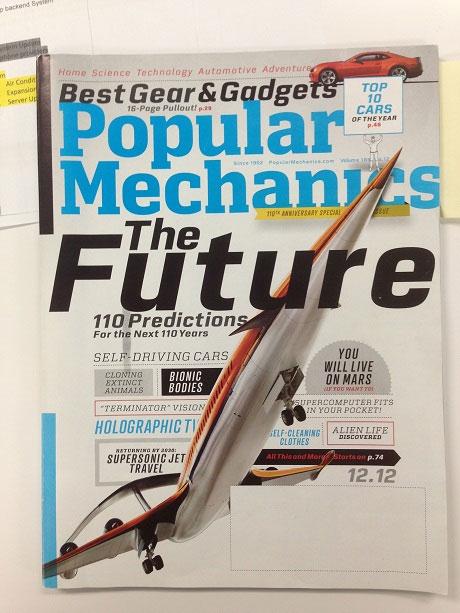 Mr. Davison Predicts the Future in Popular Mechanics Magazine