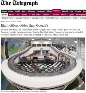 "UK Telegraph Ranks Inventionland ""Oddest"" of All!"