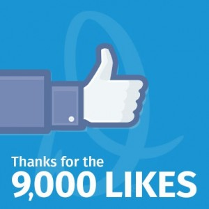 Thank You for Over 9,000 Facebook 'Likes'