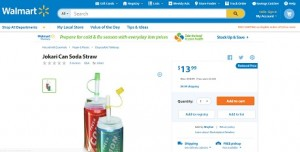 Another Product Reaches the End Zone – Soda Straws Land on Walmart.com!