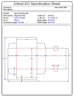 Packaging CAD Drawing for Davison Produced Product Invention Auto Dish