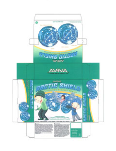 Packaging CAD Drawing for Davison Produced Product Invention Aviva Arctic Shield Packaging