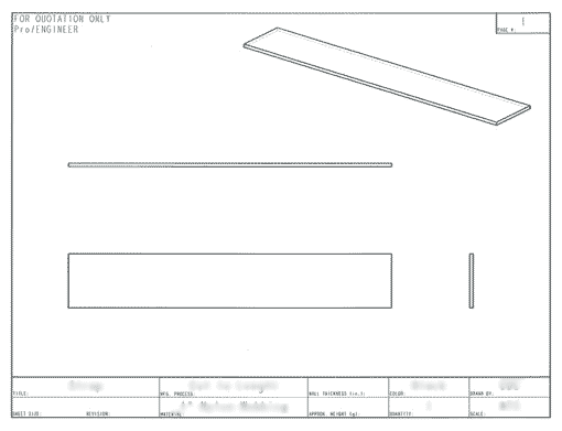 Product Engineering Drawings for Davison Produced Product Invention Dorm Rack