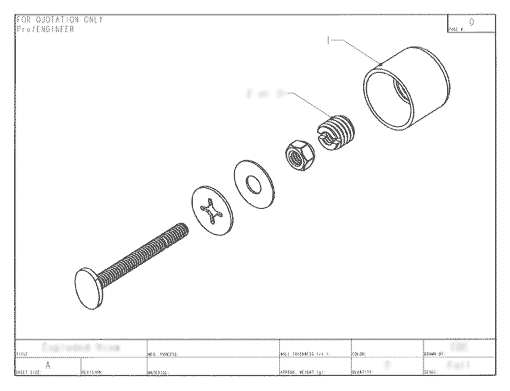 Product Engineering Drawings for Davison Produced Product Invention Twister Caps