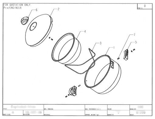 Product Engineering Drawings for Davison Produced Product Invention Swing Magic