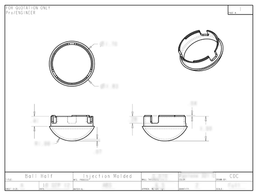 Product Engineering Drawings for Davison Produced Product Invention HydroNIP