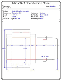 Packaging CAD Drawing for Davison Produced Product Invention Back of Seat Protector Packaging