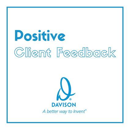 Positive Client Feedback - Davison Inventing