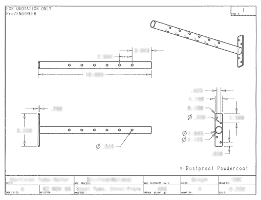 Adjustable Overhead Storage System - Technical Drawings | Davison