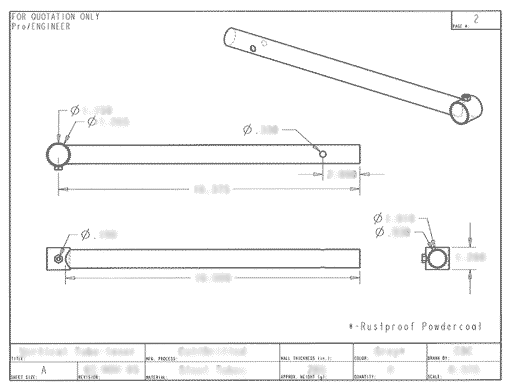 Adjustable Overhead Storage System - Technical Drawings
