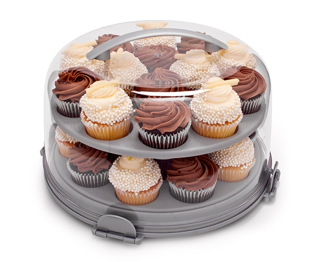 David Tutera Dessert Carrier 2-Tier Cupcake Insert