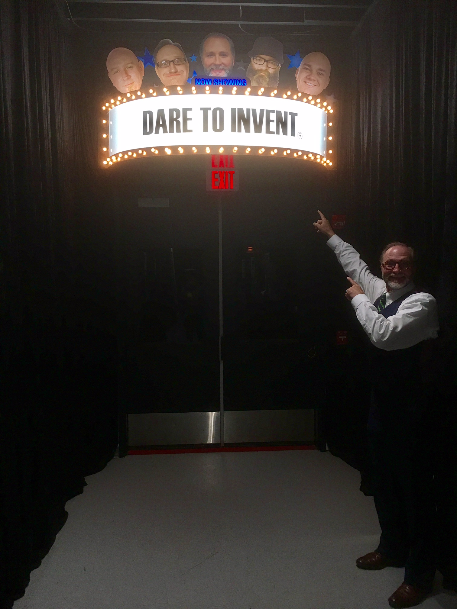Mr. D with Theater Marquee