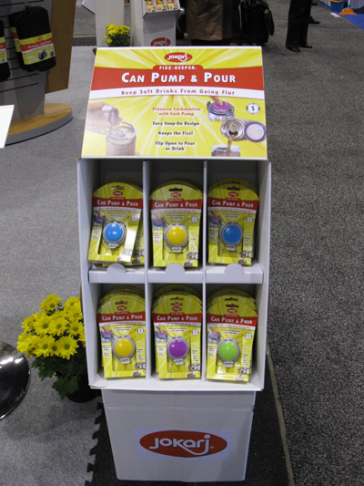 Display from Jokari's booth at the 2011 Housewares show:
