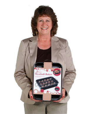 Inventor of the Meatball Baker with their product