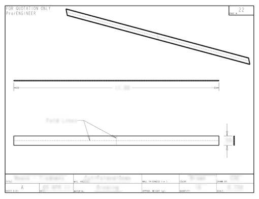 Product Engineering Drawings for Davison Produced Product Invention Cool Cot House