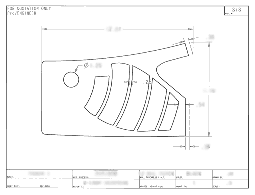 Product Engineering Drawings for Davison Produced Product Invention Hot / Cold Therapy Brace for Wrists