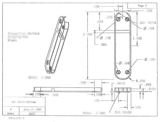 Swiss Army Whistle Knife Technical Drawings Davison