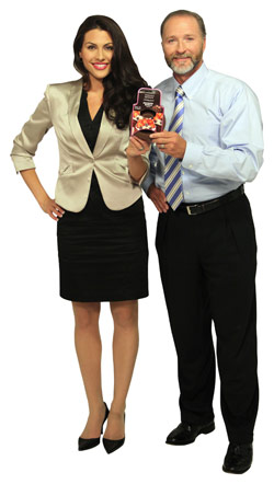 Inventor of the Brownie Bowl, Christine, with Mr. Davison