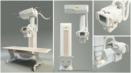 Davison Designed Industrial Product Idea: Ceiling Mount X-Ray Machine