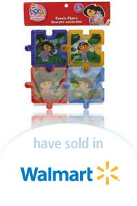 Davison Designed Product Idea: Dora Explorer Puzzle Plates