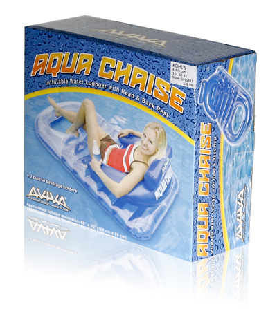 Davison Produced Product Invention: Aviva Aqua Chaise Packaging