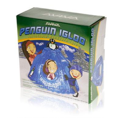 Davison Produced Product Invention: Aviva Penguin Igloo Packaging