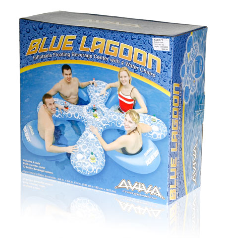 Davison Produced Product Invention: Aviva Blue Lagoon Packaging