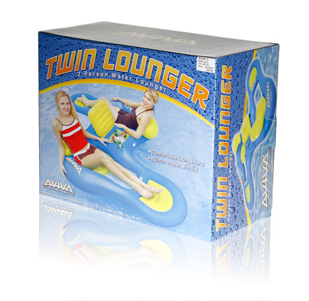 Final Manufactured Product for Davison Produced Product Invention Aviva Twin Lounger Packaging