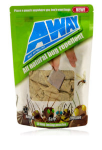 Davison produced product invention: AWAY Bug Repellent Pouches and Tins