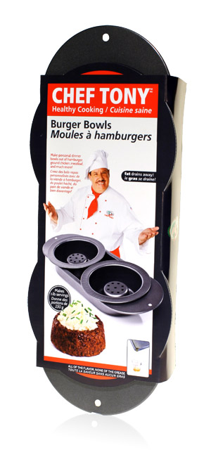 Davison Produced Product Invention: Chef Tony – Burger Bowls
