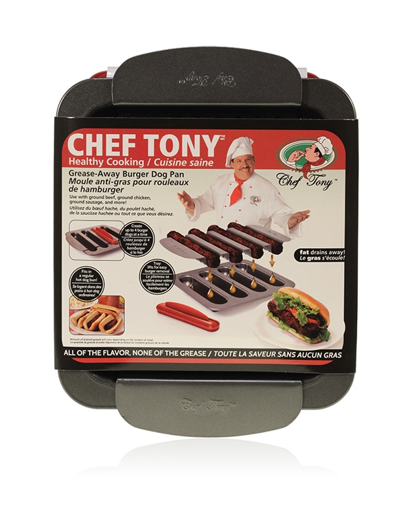 Davison Produced Product Invention: Chef Tony – Burger Dogs Pan