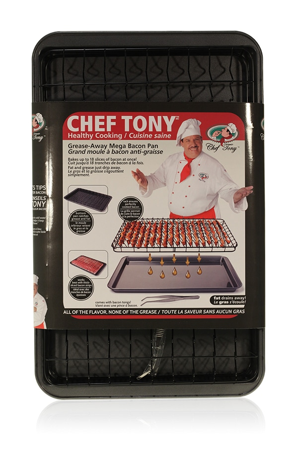 Davison Produced Product Invention: Chef Tony – Mega Bacon Pan