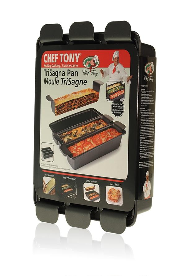 Davison Produced Product Invention: Chef Tony – TriSagna Pan