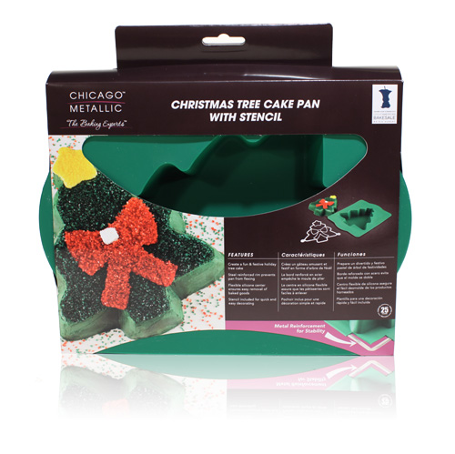 Davison Produced Product Invention: Christmas Tree Cake Pan & Stencil