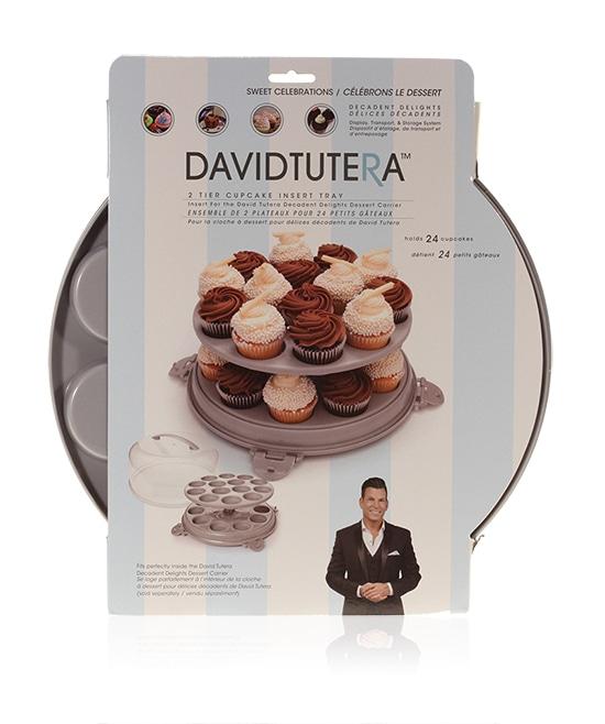 Davison Produced Product Invention: David Tutera Dessert Carrier 2-Tier Cupcake Insert
