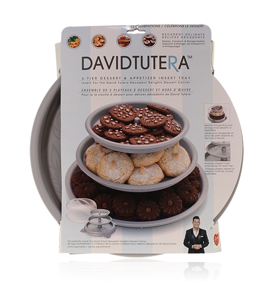 Final Manufactured Product for Davison Produced Product Invention David Tutera Dessert Carrier 3-Tier Dessert & Appetizer Insert