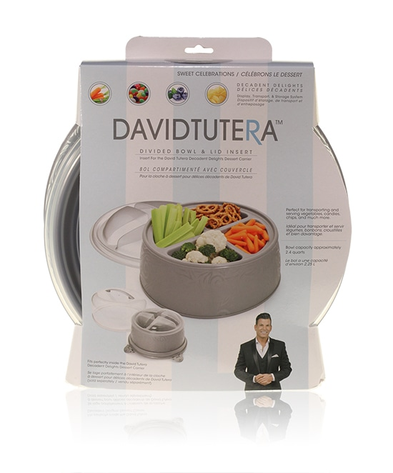 Davison Produced Product Invention: David Tutera Dessert Carrier Divided Serving Bowl Insert
